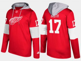 Wholesale Cheap Red Wings #17 David Booth Red Name And Number Hoodie