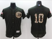 Wholesale Cubs #10 Ron Santo Green Flexbase Authentic Collection Salute to Service Stitched Baseball Jersey