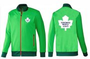 Wholesale Cheap NHL Toronto Maple Leafs Zip Jackets Green