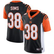 Wholesale Cheap Nike Bengals #38 LeShaun Sims Black Team Color Youth Stitched NFL Vapor Untouchable Limited Jersey