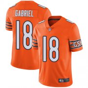 Wholesale Cheap Nike Bears #18 Taylor Gabriel Orange Men's Stitched NFL Limited Rush Jersey