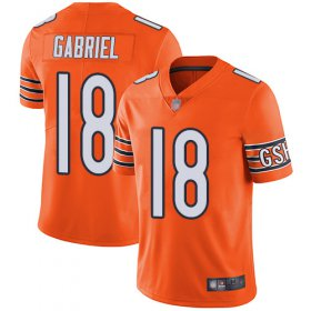 Wholesale Cheap Nike Bears #18 Taylor Gabriel Orange Men\'s Stitched NFL Limited Rush Jersey