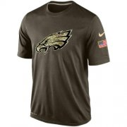 Wholesale Cheap Men's Philadelphia Eagles Salute To Service Nike Dri-FIT T-Shirt