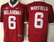 Wholesale Cheap Men's Oklahoma Sooners #6 Baker Mayfield Red 2016 College Football Nike Jersey