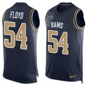 Wholesale Cheap Nike Rams #54 Leonard Floyd Navy Blue Team Color Men's Stitched NFL Limited Tank Top Jersey