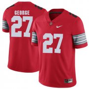 Wholesale Cheap Ohio State Buckeyes 27 Eddie George Red 2018 Spring Game College Football Limited Jersey