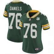 Wholesale Cheap Nike Packers #76 Mike Daniels Green Team Color Women's 100th Season Stitched NFL Vapor Untouchable Limited Jersey