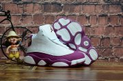 Wholesale Cheap Kids Air Jordan 13 Retro Shoes White/mtlc red bronze-bordeaux