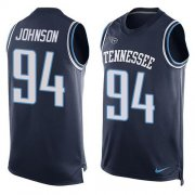 Wholesale Nike Titans #94 Austin Johnson Navy Blue Team Color Men's Stitched NFL Limited Tank Top Jersey