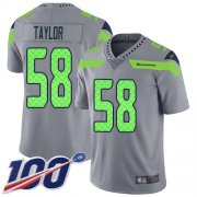 Wholesale Cheap Nike Seahawks #58 Darrell Taylor Gray Youth Stitched NFL Limited Inverted Legend 100th Season Jersey