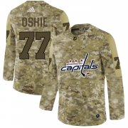 Wholesale Cheap Adidas Capitals #77 T.J. Oshie Camo Authentic Stitched NHL Jersey