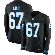 Wholesale Cheap Nike Panthers #67 Ryan Kalil Black Team Color Men's Stitched NFL Limited Therma Long Sleeve Jersey