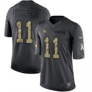 Wholesale Cheap Nike Cardinals #11 Larry Fitzgerald Black Men's Stitched NFL Limited 2016 Salute to Service Jersey