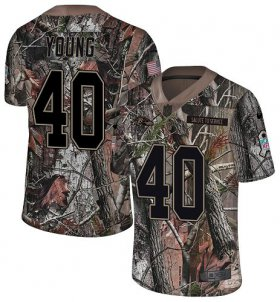 Wholesale Cheap Nike Ravens #40 Kenny Young Camo Men\'s Stitched NFL Limited Rush Realtree Jersey