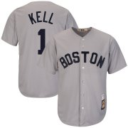 Wholesale Cheap Boston Red Sox #1 George Kell Majestic Cooperstown Collection Cool Base Player Jersey Gray