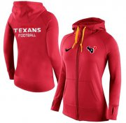Wholesale Cheap Women's Nike Houston Texans Full-Zip Performance Hoodie Red
