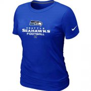 Wholesale Cheap Women's Nike Seattle Seahawks Critical Victory NFL T-Shirt Blue