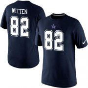Wholesale Nike Dallas Cowboys #82 Jason Witten Pride Name & Number NFL T-Shirt Blue