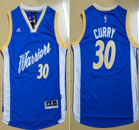 Wholesale Cheap Men\'s Golden State Warriors #30 Stephen Curry Revolution 30 Swingman 2015 Christmas Day Blue Jersey