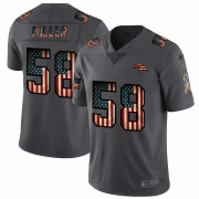 Wholesale Cheap Denver Broncos #58 Von Miller Nike 2018 Salute to Service Retro USA Flag Limited NFL Jersey