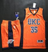 Wholesale Cheap Thunder #35 Kevin Durant Orange Alternate A Set Stitched NBA Jersey