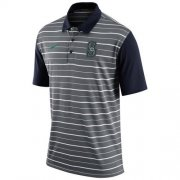 Wholesale Cheap Men's Seattle Mariners Nike Gray Dri-FIT Stripe Polo
