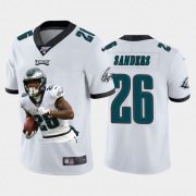 Cheap Philadelphia Eagles #26 Miles Sanders Nike Team Hero 1 Vapor Limited NFL 100 Jersey White