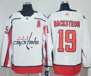 Wholesale Cheap Adidas Capitals #19 Nicklas Backstrom White Road Authentic Stitched NHL Jersey