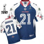 Wholesale Cheap Packers #21 Charles Woodson Blue 2010 Pro Bowl Super Bowl XLV Stitched NFL Jersey