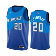 Wholesale Cheap Nike Bucks #20 Nik Stauskas Blue NBA Swingman 2020-21 City Edition Jersey