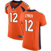 Wholesale Cheap Nike Broncos #12 Paxton Lynch Orange Team Color Men's Stitched NFL Vapor Untouchable Elite Jersey