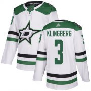 Cheap Adidas Stars #3 John Klingberg White Road Authentic Stitched NHL Jersey