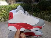 Wholesale Cheap Kids Air Jordan 13 Retro Shoes Red/White-Grey