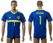 Wholesale Cheap Bosnia Herzegovina #1 Begovic Home Soccer Country Jersey