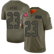 Wholesale Cheap Nike Texans #23 Carlos Hyde Camo Youth Stitched NFL Limited 2019 Salute to Service Jersey