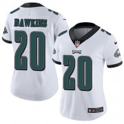 Wholesale Cheap Nike Eagles #20 Brian Dawkins White Women's Stitched NFL Vapor Untouchable Limited Jersey