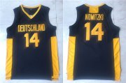 Wholesale Cheap Men's The Movie Deutschland #14 Dirk Nowitzki Navy Blue College Basketball Jersey
