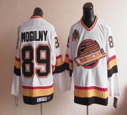 Wholesale Cheap Canucks #89 Alexander Mogilny Stitched White CCM Throwback NHL Jersey