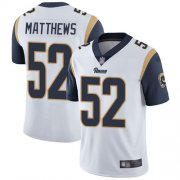 Wholesale Cheap Nike Rams #52 Clay Matthews White Youth Stitched NFL Vapor Untouchable Limited Jersey