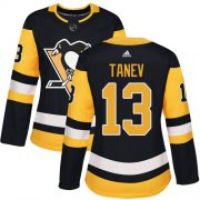 Wholesale Cheap Adidas Penguins #13 Brandon Tanev Black Home Authentic Women's Stitched NHL Jersey