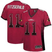 Wholesale Cheap Nike Cardinals #11 Larry Fitzgerald Red Team Color Women's Stitched NFL Elite Drift Fashion Jersey
