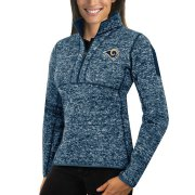 Wholesale Cheap Los Angeles Rams Antigua Women's Fortune Half-Zip Sweater Heather Navy