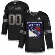 Wholesale Cheap Men's Adidas Rangers Personalized Authentic Black Classic NHL Jersey