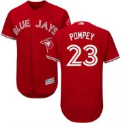 Wholesale Cheap Blue Jays #23 Dalton Pompey Red Flexbase Authentic Collection Canada Day Stitched MLB Jersey