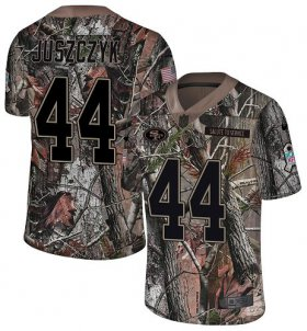 Wholesale Cheap Nike 49ers #44 Kyle Juszczyk Camo Youth Stitched NFL Limited Rush Realtree Jersey