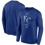 Wholesale Cheap Men's Kansas City Royals Nike Royal Authentic Collection Legend Performance Long Sleeve T-Shirt