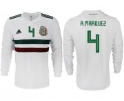 Wholesale Cheap Mexico #4 R.Marquez Away Long Sleeves Soccer Country Jersey