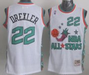 Wholesale Cheap NBA 1996 All-Star #22 Clyde Drexler White Swingman Throwback Jersey