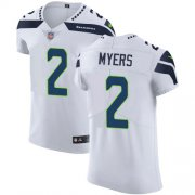 Wholesale Cheap Nike Seahawks #2 Jason Myers White Men's Stitched NFL Vapor Untouchable Elite Jersey