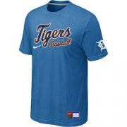 Wholesale Cheap Detroit Tigers Nike Short Sleeve Practice MLB T-Shirt Indigo Blue
